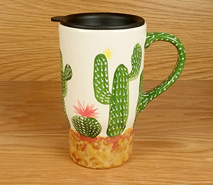 Orange Village Cactus Travel Mug