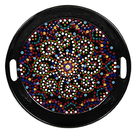 Orange Village Mosaic Mandala Tray