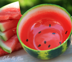 Orange Village Watermelon Bowl