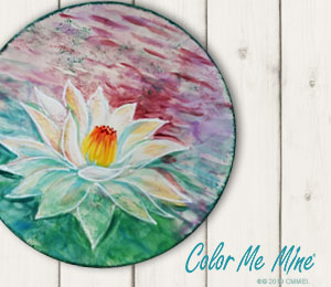 Orange Village Lotus Flower Plate