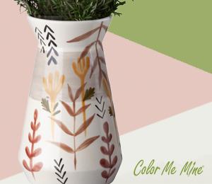 Orange Village Minimalist Vase